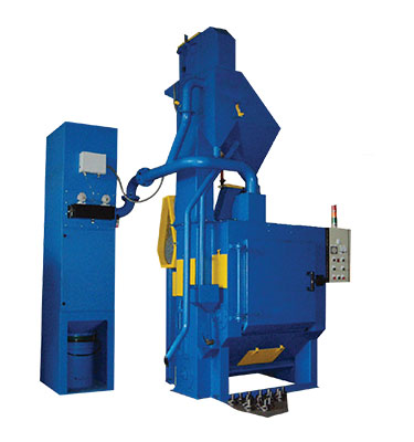 Apron Type Shot Blasting Machine is designed and manufactured to carry out batch blasting of small to machine size work pieces like stamping parts, casting parts, laser cut parts, pipe fitting like elbow or flayed part would be flipped and turned while billion of metal shot are being propelled on it.