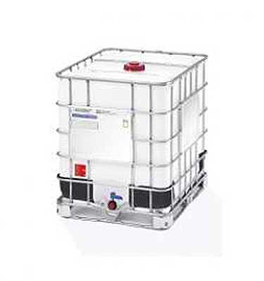 We sell IBC Tote Tanks made of Metal/Plastic/Wooden base pallet with plastic corner pieces.