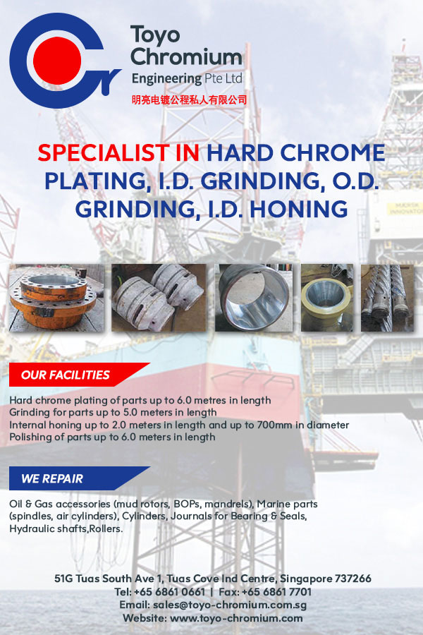 Headquartered in Singapore, Toyo Chromium Engineering is a leading provider of component repair solutions for a wide range of engineering applications.