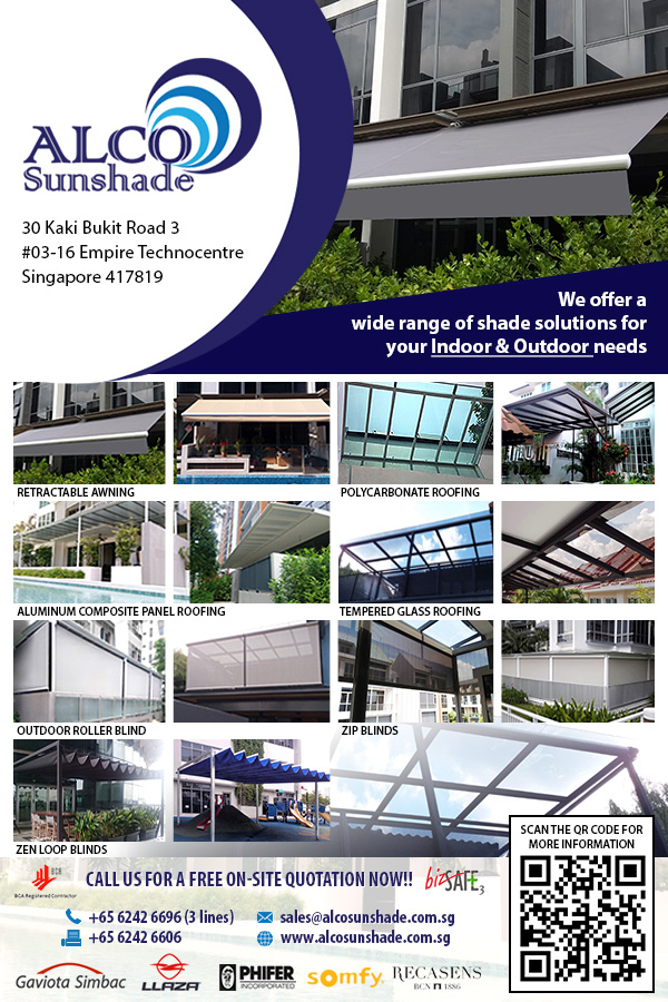 Alco Sunshade Pte Ltd is an Awning, Blinds and Roofing Company located in Singapore.