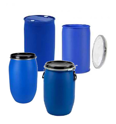We sell two types of HDPE Drums, Close Top(Tight Head) Plastic Drums and Open Top(Open Head) Plastic Drums.