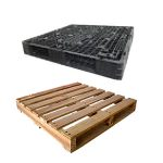 We sell Plastic and Wooden Pallets.