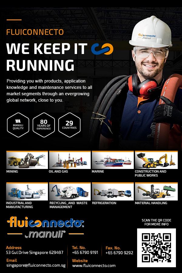 Fluiconnecto by Manuli is a leading international service organization, focused on high pressure fluid connectors, providing products and application knowledge, as well as maintenance services, to all market segments through a global network tailored to local conditions.