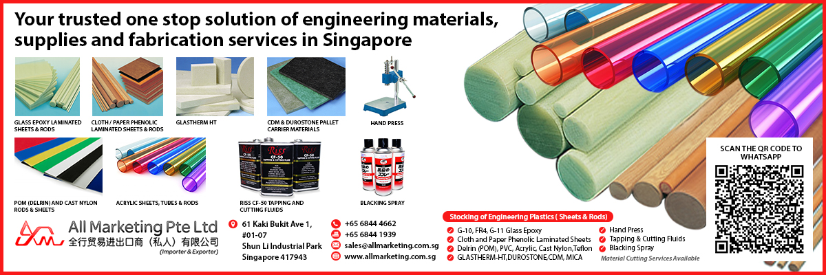 All Marketing Pte Ltd is an import, export trading and manufacturing company located in Singapore.