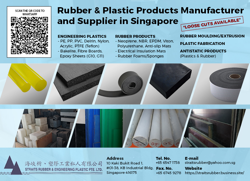Incorporated since 1991, Straits Rubber & Engineering Plastic Pte Ltd based in Singapore started to supply products and services to different industrial applications.