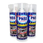 PN55 is a rust proof penetrating oil for use on equipment. It penetrates rapidly into corroded metal surface and can help to loosen binding screws, nuts and etc. that are caused by rust. PN55 has high lubricating properties as compared to other rust removal products because of the presence of PTFE compound in the solution.PN55 is also odourless and it adopts two way nozzle, making spray from bottom up possible.