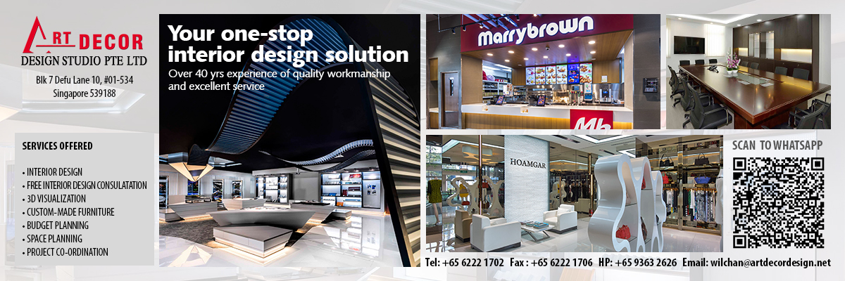 Art Décor Design Studio Pte Ltd was established in the year 1970, and through the years, we have grown to be a leading company in the local interior design industry all around Singapore.