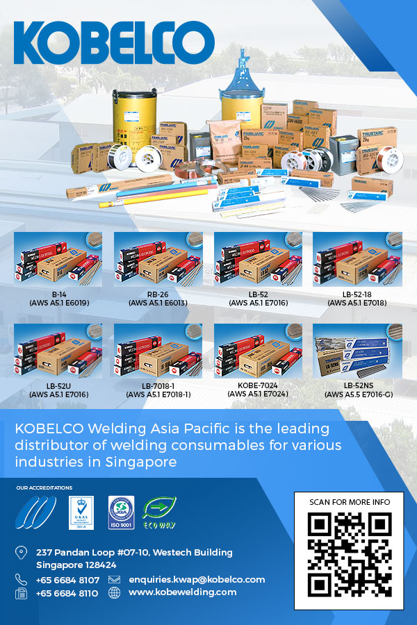 KOBELCO WELDING ASIA PACIFIC (formerly known as Kobe Welding Singapore), KWAP, was established in January 1979 for manufacturing of covered electrodes, which are used in the shipbuilding, ship repair, offshore/ onshore construction for oil & gas, steel fabrication and many other industries related to steel constructions.