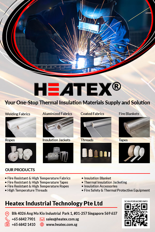 Heatex Industrial Technology Pte Ltd is a company that focuses on providing thermal insulation materials and fire and welding safety products.