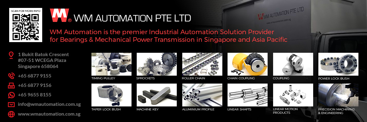 WM Automation Pte Ltd is a premier industrial automation solutions provider for bearings and mechanical power transmission throughout Singapore and Asia Pacific.