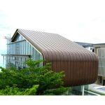 Sheet Metal International Systems Pte Ltd specializes in a roofing and wall cladding technique known as Copper Bronze Roof and Wall Cladding inDouble Standing Seam System with curved transitions to Wall and Soff.