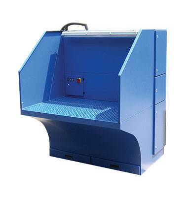 Our custom-made downdraft workstation or downdraft tables are used to collect dust from grinding, sanding, polishing process.