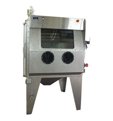 Manual slurry blaster is a machine used for wet blasting surfaces to achieve a desired finish.
