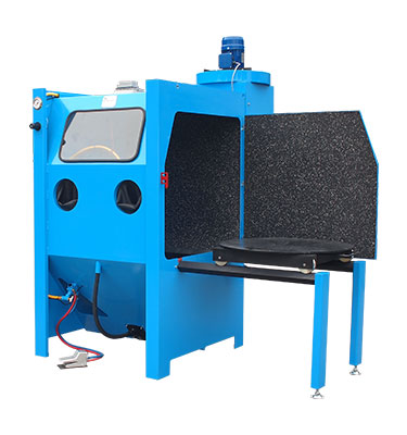 The manual suction blast machine with turntable is a heavy-duty machine that is an extra-quite during blasting operation.