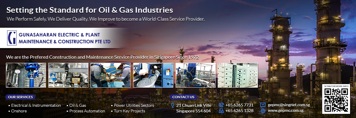 Gunasaharan Electric & Plant Maintenance & Construction Pte Ltd is a construction and maintenance service provider for oil & gas industries in Singapore.