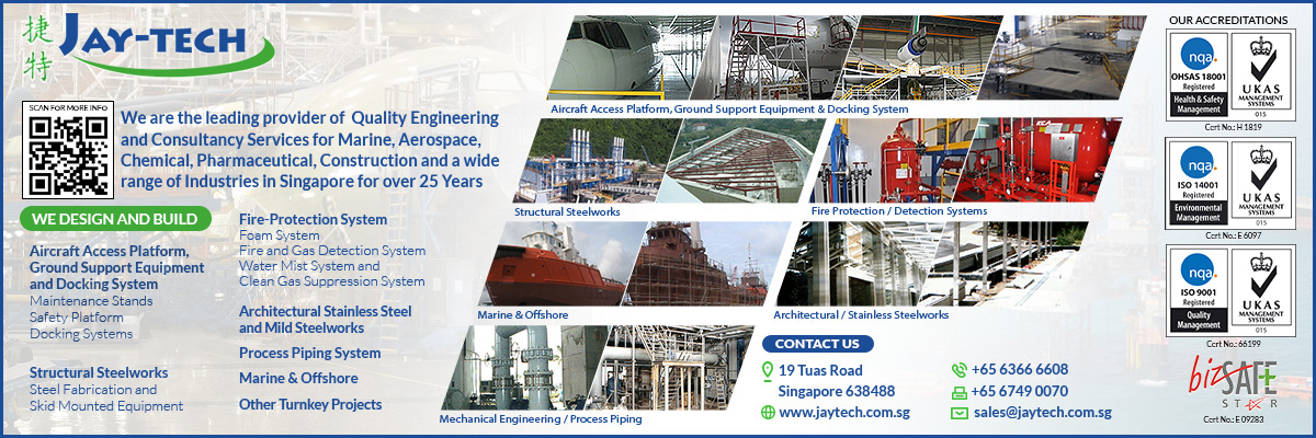 Jay-Tech Marine and Projects Pte Ltd, a company based in Singapore, provides a comprehensive range of project management and engineering services to our clients.