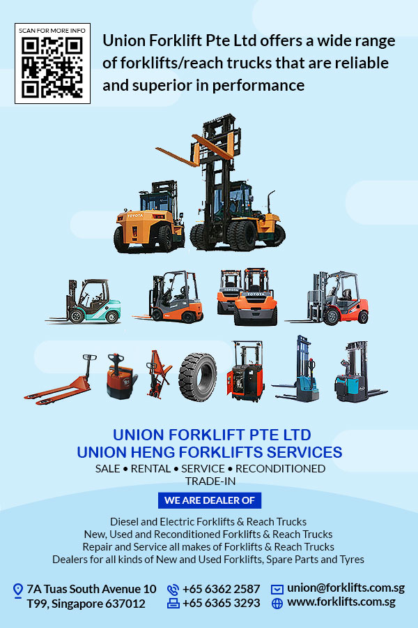 Union Forklift Pte Ltd belongs to the Union Heng Forklifts Services' group of companies that was established on May 22, 1998.