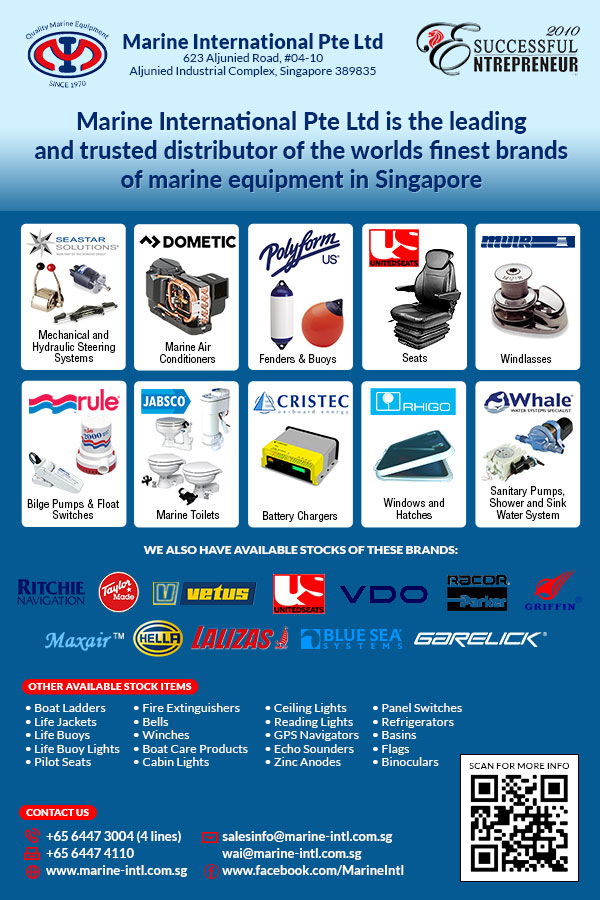 Formerly known as Marine International,Marine International Pte Ltd, has been providing excellent products and services to wide range of marine industries in Singapore since 1970.