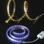 SMD soft LED strip light is a flexible circuit board that is populated with LED light. You can put this anywhere you want to add lighting in a variety of colors and brightness. The flexible properties of these lights allow you to bend the strip light up to 90 degrees. You can also use it to light impossible places, like interior dark groove decoration, wine cabinets, lockers, display cabinets, car decoration, hotel decoration, city brightening, outdoor advertising, and more.