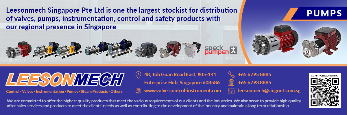 Are you in need of a supplier of pumps, valves, instrumentation, as well as, control and safety products that are designed to be used in chemical industries, refineries, construction, and other related areas? Leesonmech Singapore Pte Ltd can give you what you need.