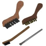 Hand brushes are brushes that consist of a handle that is easy to rub the surface by using a hand. Some handles are made of wood, plastic or metal.