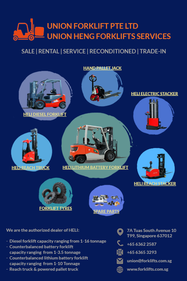 Union Forklift Pte Ltdbelongs to the Union Heng Forklifts Services' group of companies that was established on May 22, 1998.